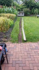 Der Garten musste größer werden